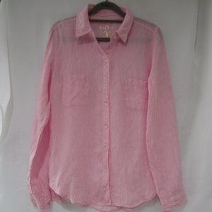 Lilly Pulitzer S Sea View Linen Button Up Shirt